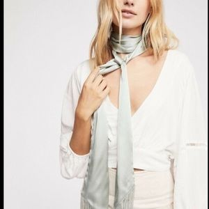 Free People Skinny Silky  Belt Scarf